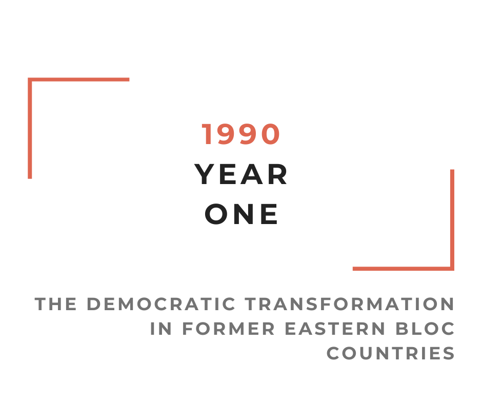 "Cykl wykładów online || Projekt ""1990 / Year One. The democratic transformation in former Eastern Bloc countries"""